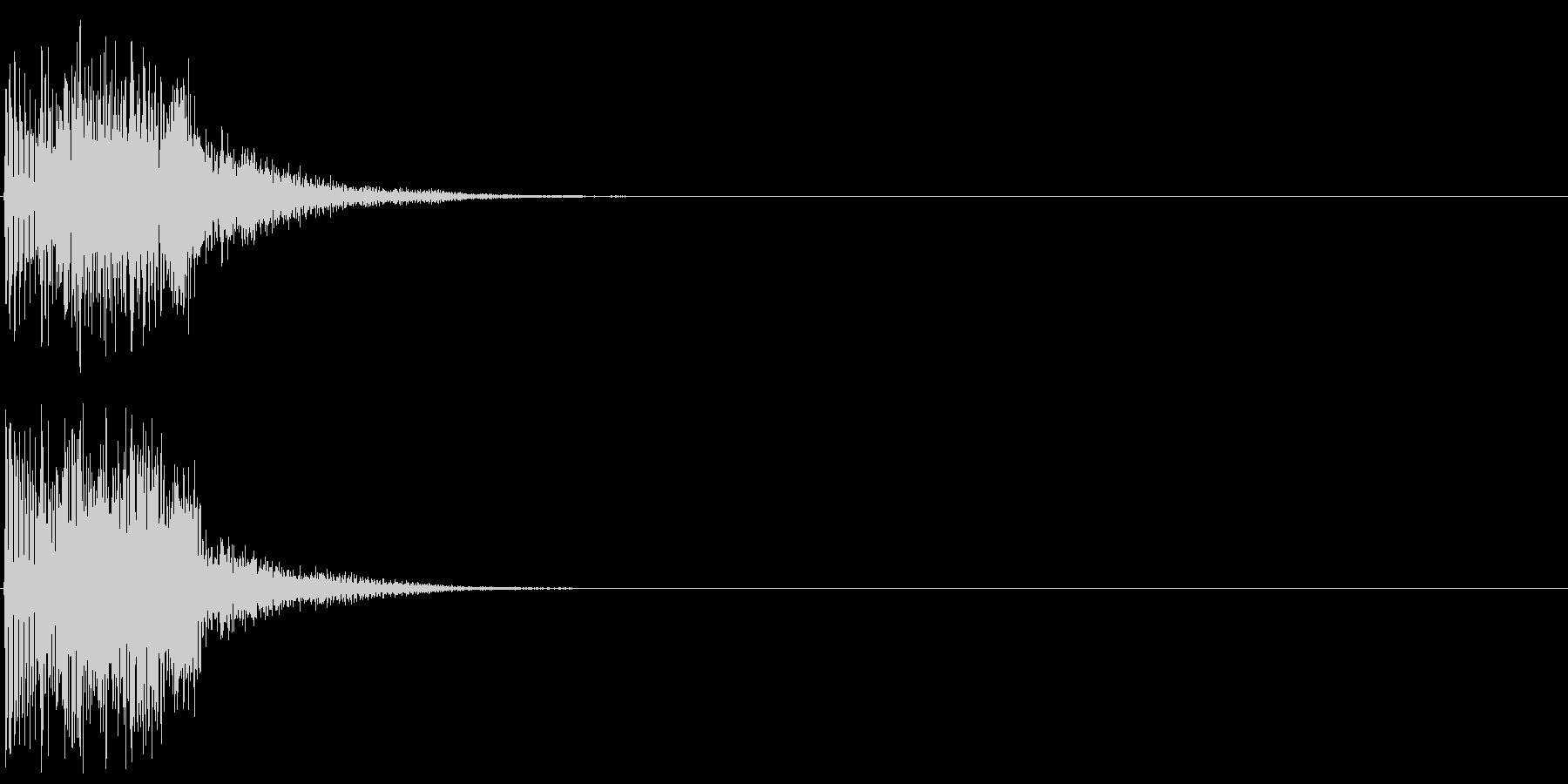 シンセ音(決定音、操作、アプリ、ゲーム)の未再生の波形