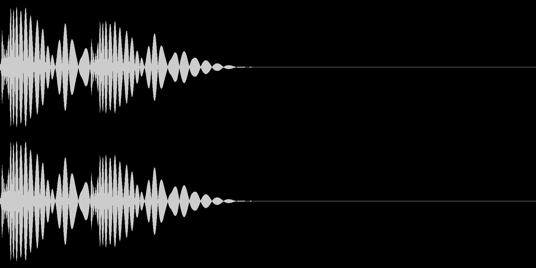 ドットッ・心音・ハートビート(低音)の未再生の波形
