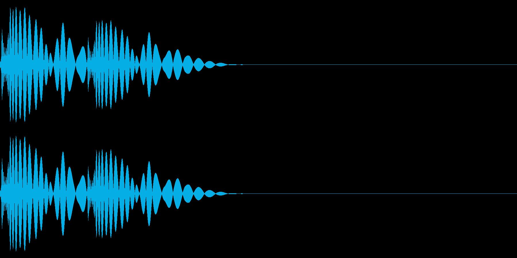 ドットッ・心音・ハートビート(低音)の再生済みの波形