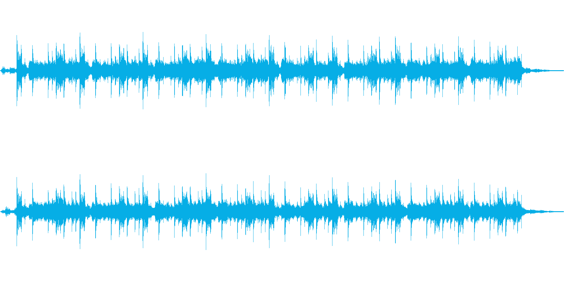 Techno 1の再生済みの波形