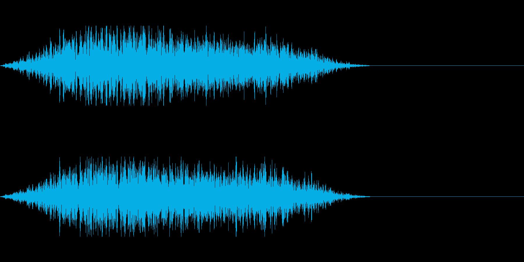 シンプルな隙間風の再生済みの波形