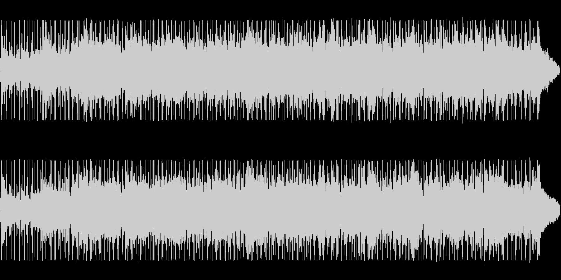ゆったりした懐かしいシンセサイザーの曲の未再生の波形
