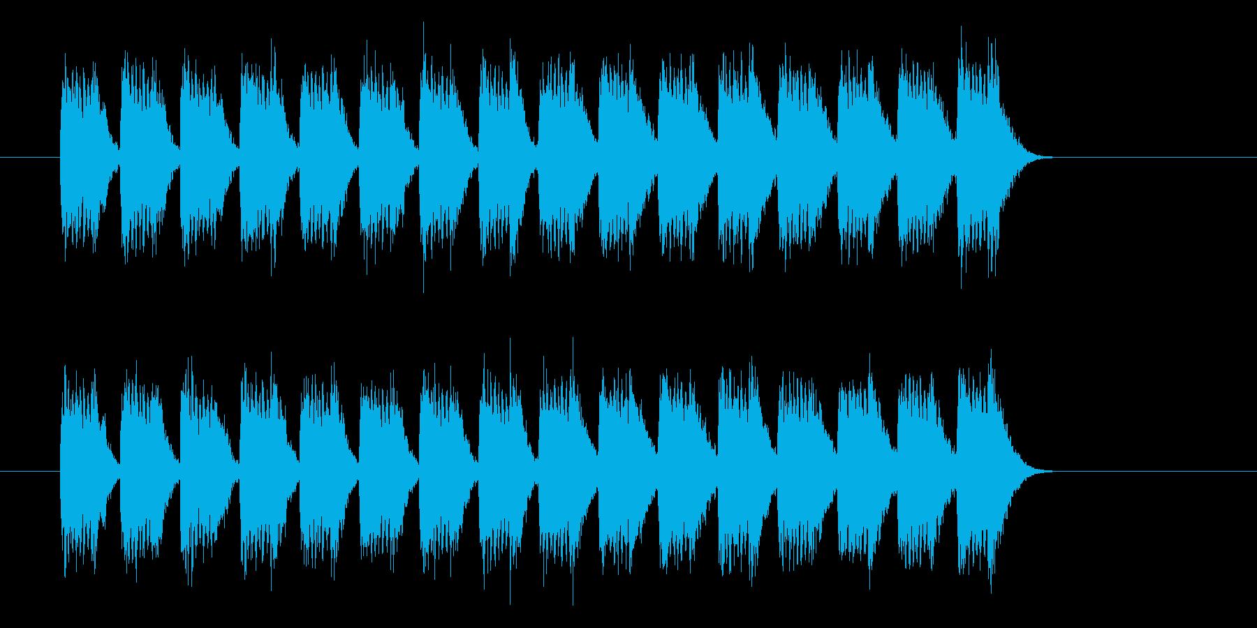 幻想的・浮遊感のあるジングルの再生済みの波形