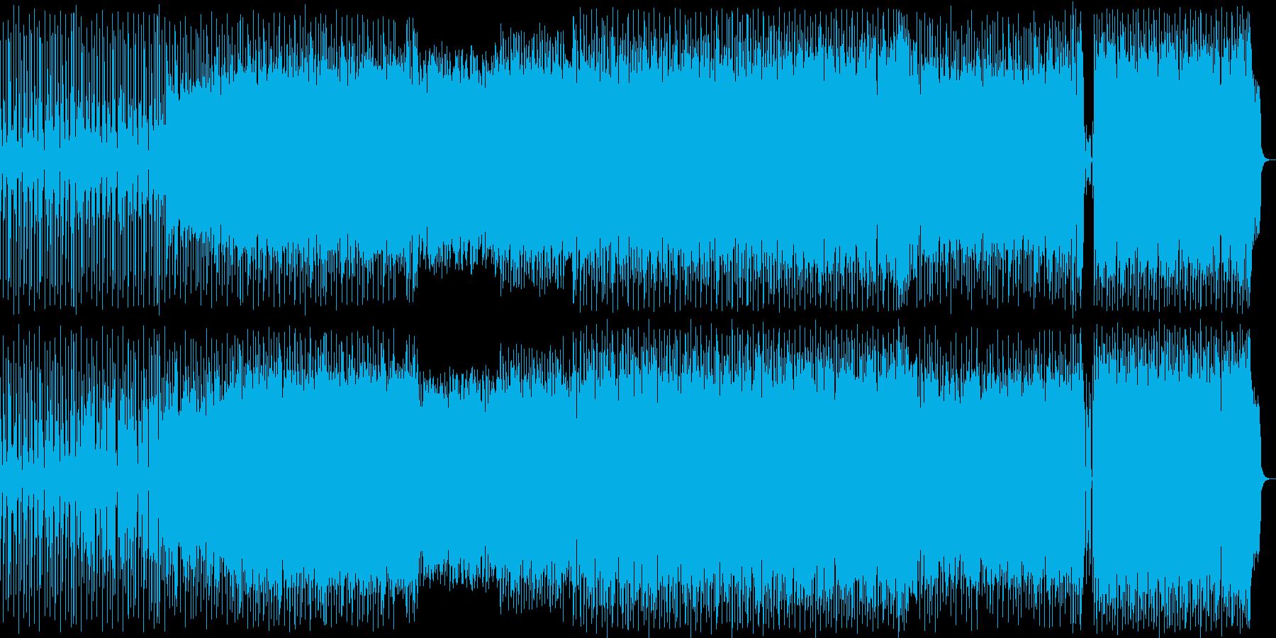 宇宙的なシンセポップハウス系の再生済みの波形