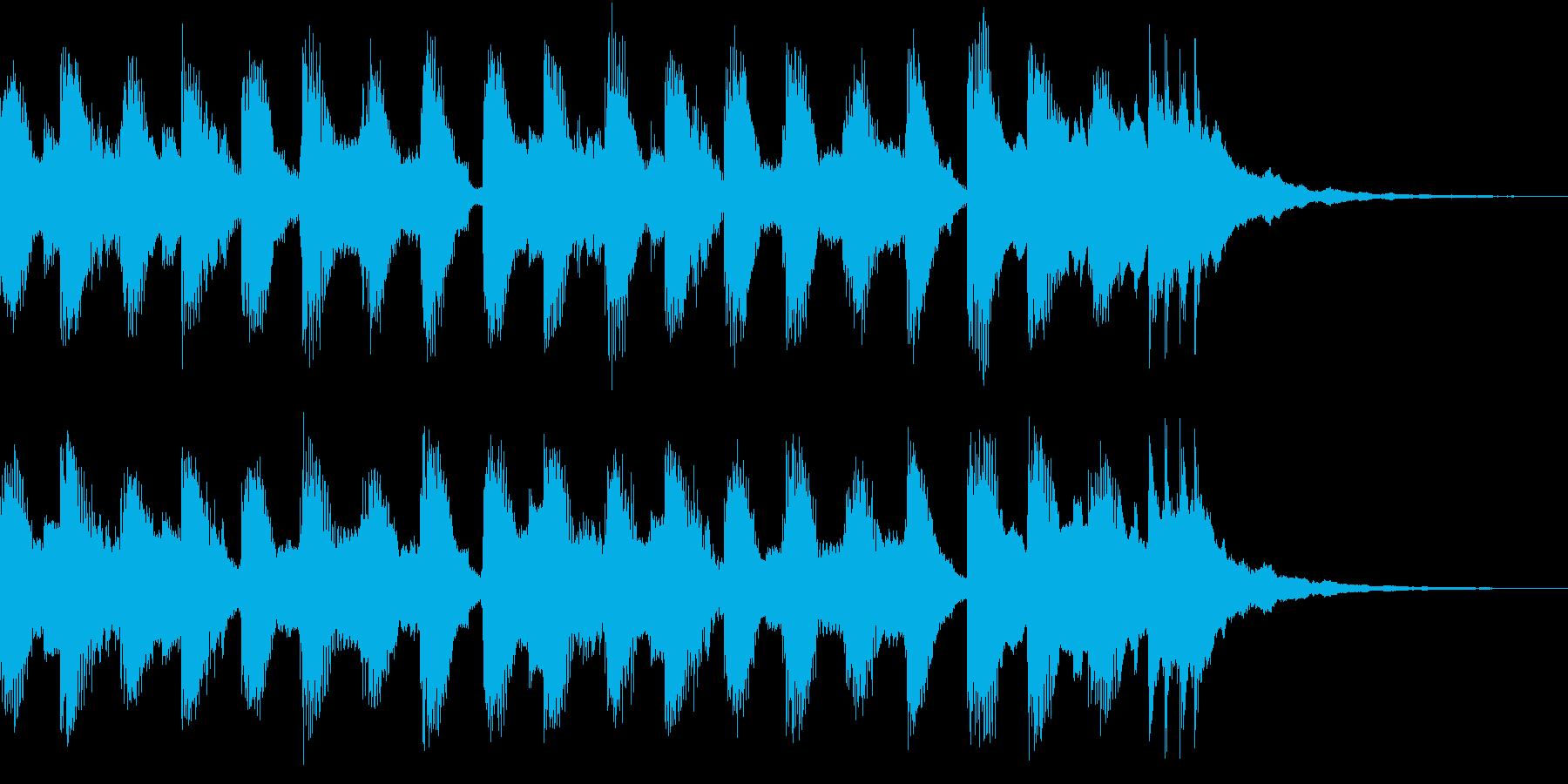 軽快で疾走感があるテクノ系のシンセ曲の再生済みの波形