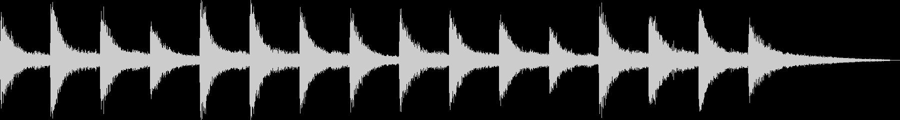切ないピアノの和音が印象的なバラードの未再生の波形