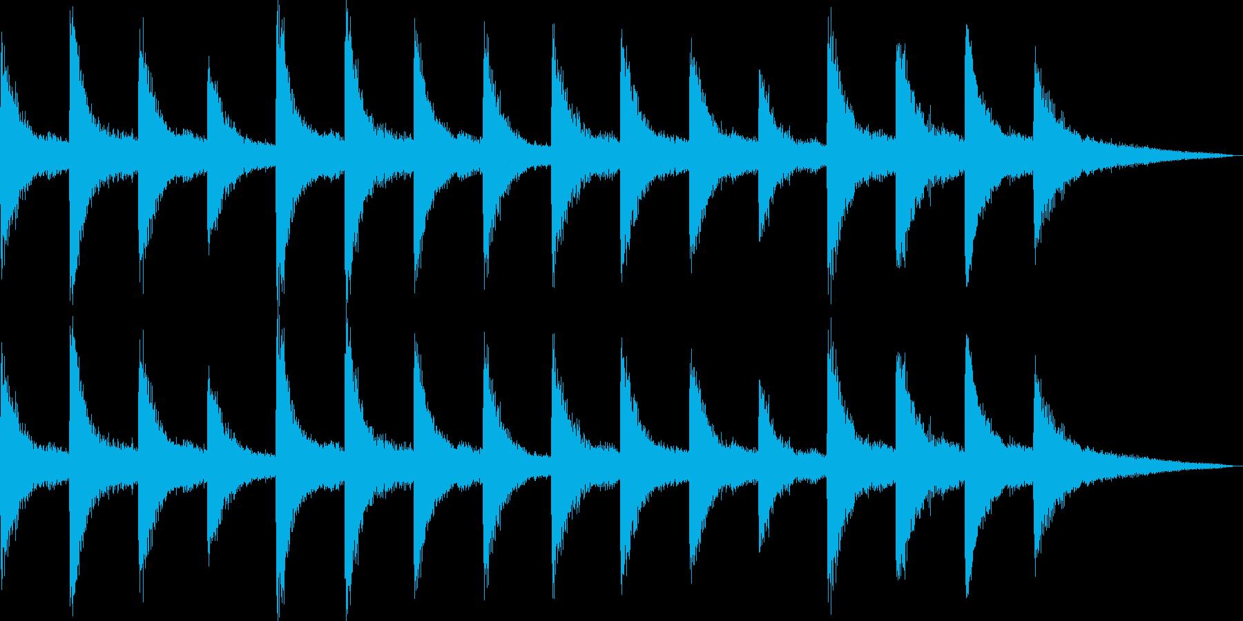 切ないピアノの和音が印象的なバラードの再生済みの波形