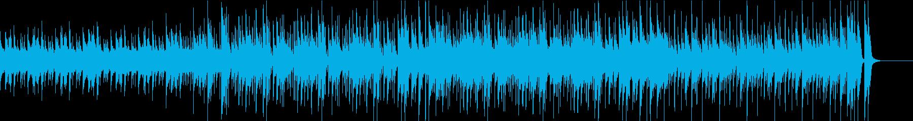 幻想的な雰囲気の短めのBGMの再生済みの波形