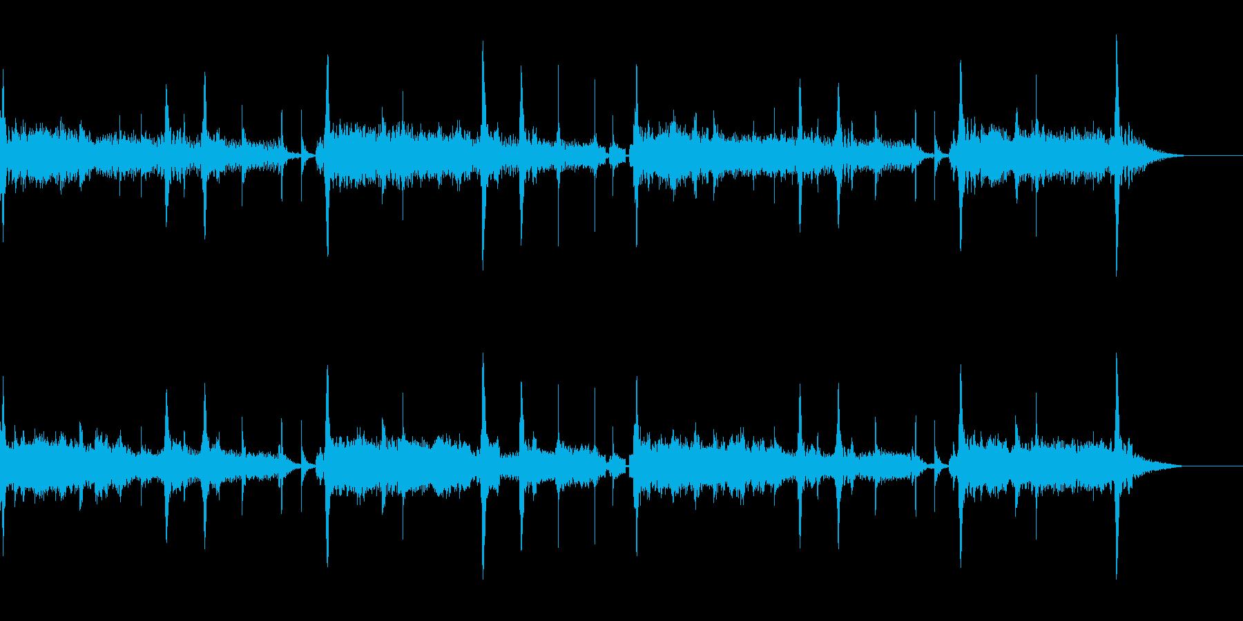 落ち着いたテクノBGMの再生済みの波形