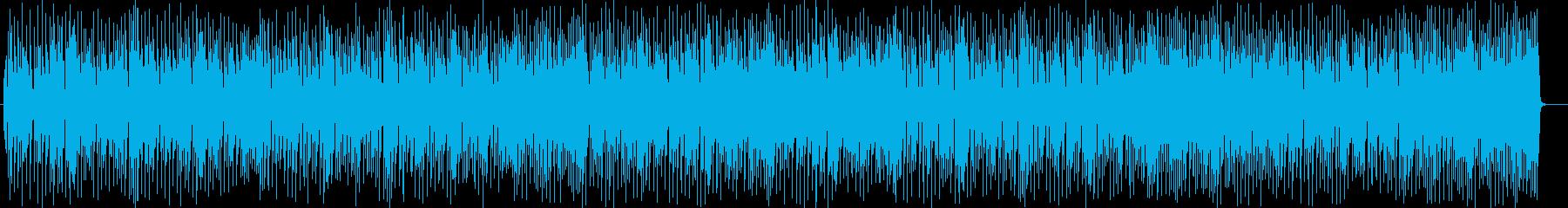 宇宙感のある楽しいシンセサイザーサウンドの再生済みの波形