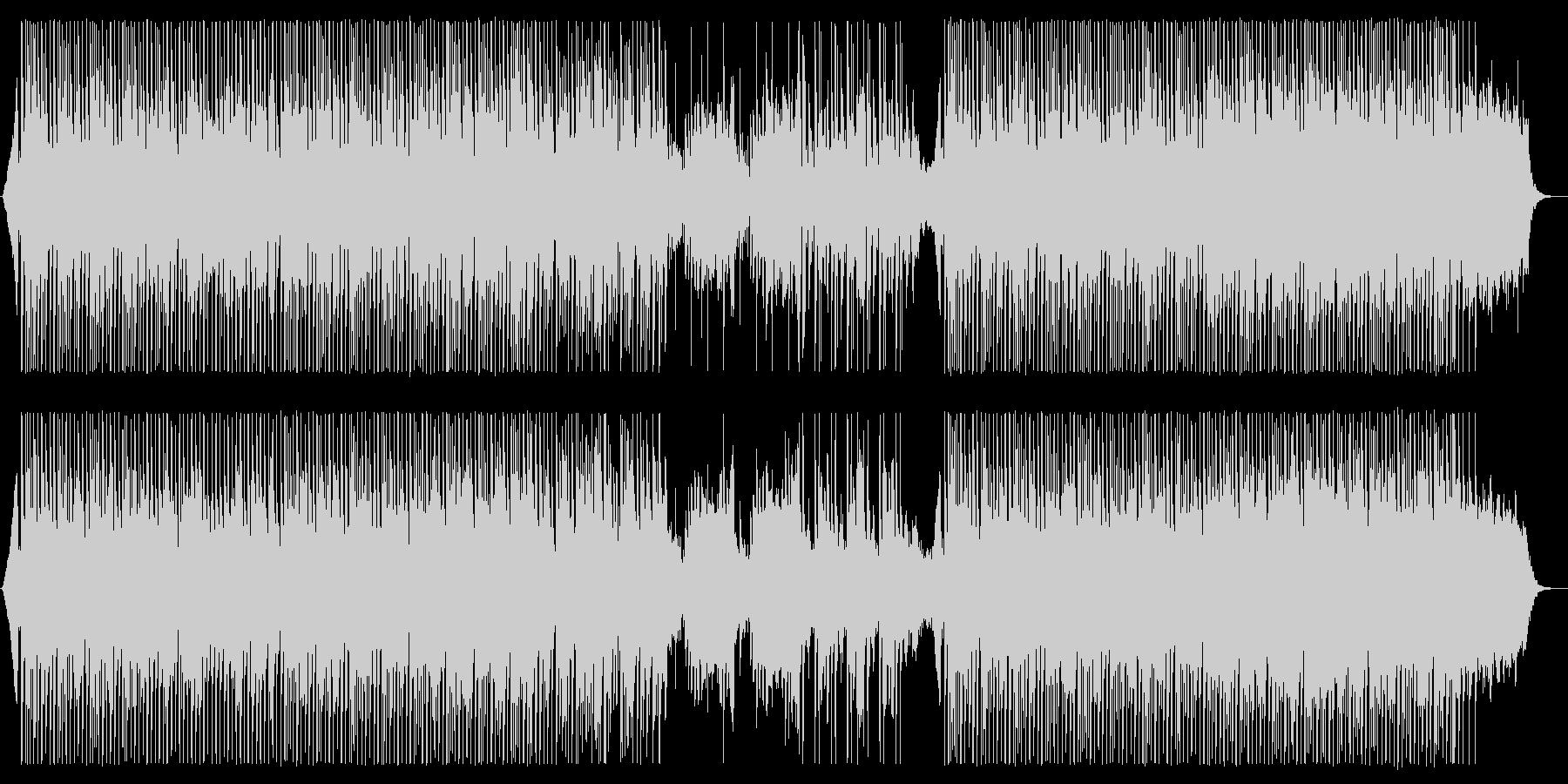 お洒落なハウスミュージックの未再生の波形