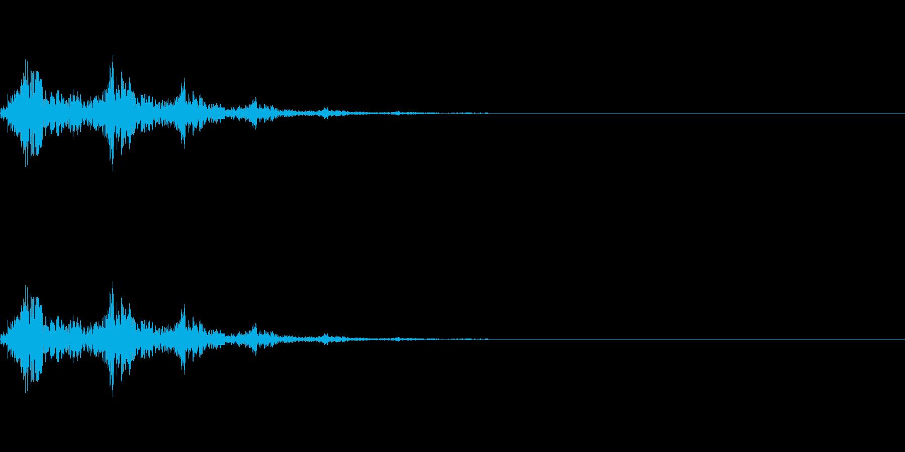 選択、決定等のシステム効果音のイメージ…の再生済みの波形