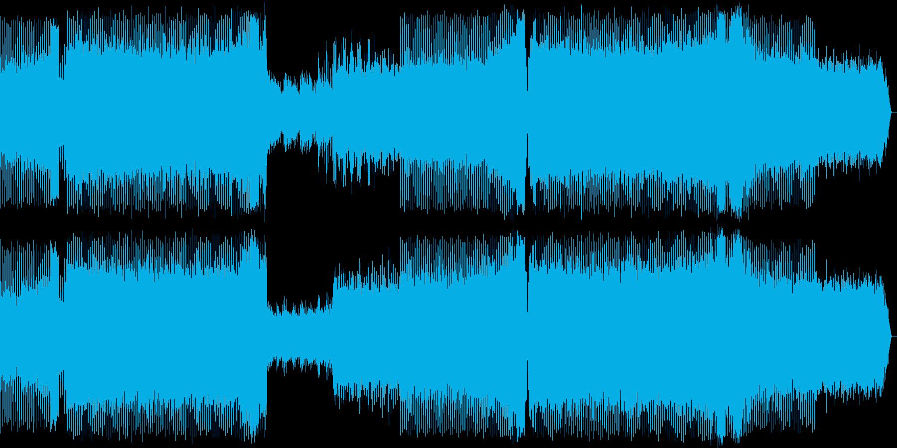 キラキラした4つ打ちのハウスの音の再生済みの波形