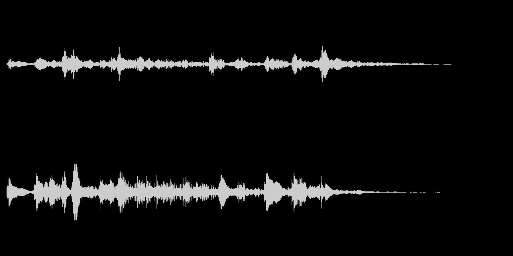 鈍い音のベル 不思議なカランコロンの未再生の波形