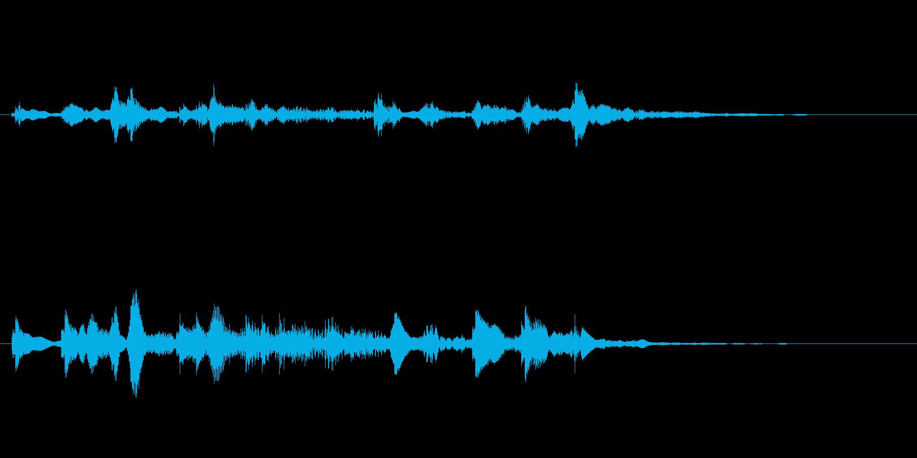 鈍い音のベル 不思議なカランコロンの再生済みの波形