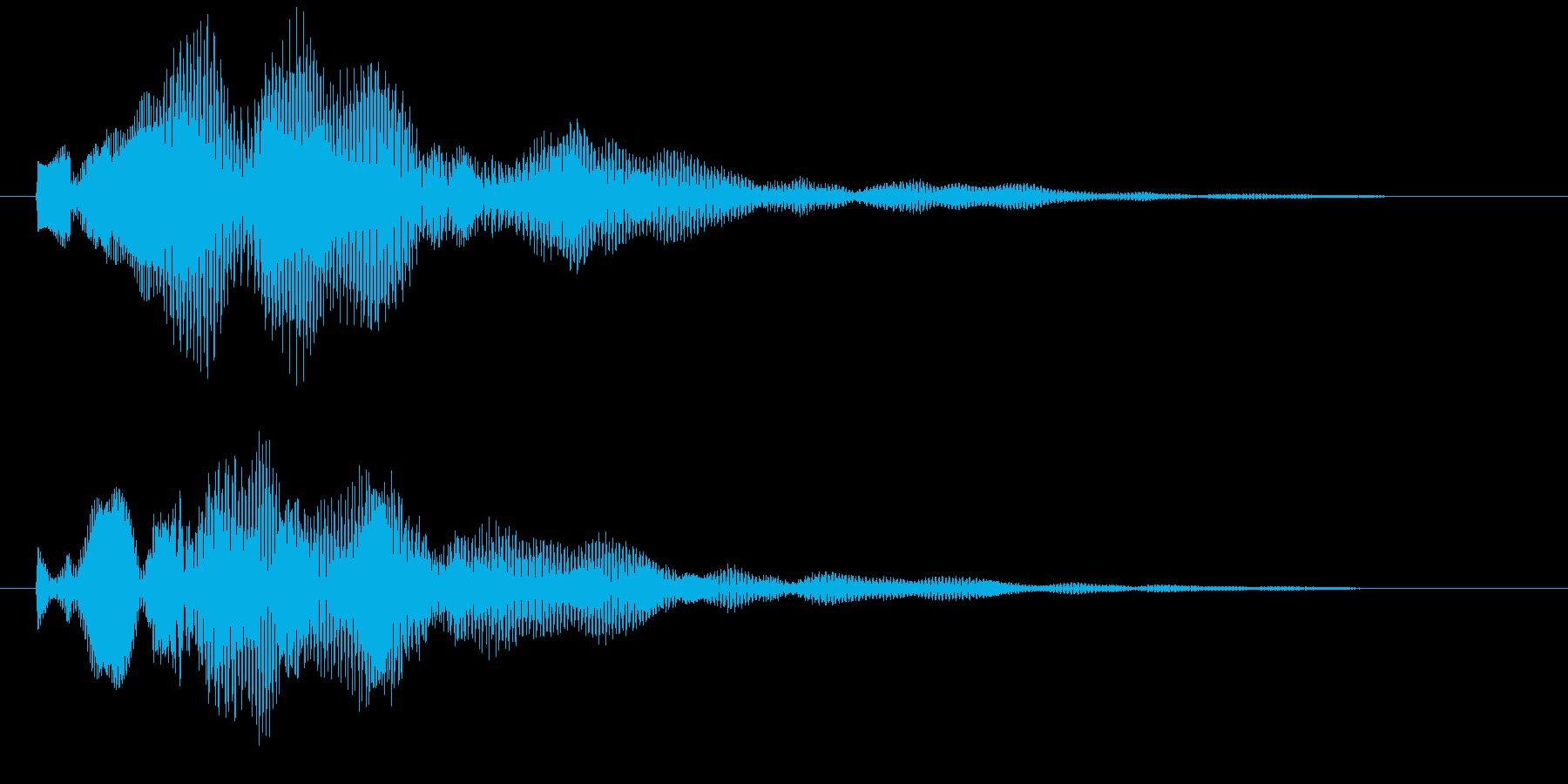 カウントダウン 探知レーダー 決定 選択の再生済みの波形