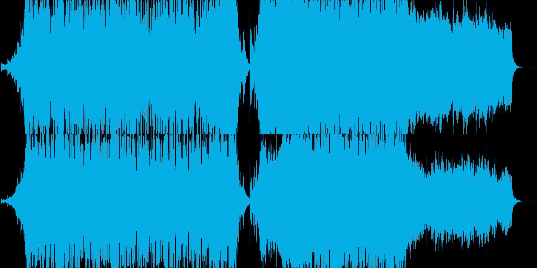 壮大な感動的エンディングのオーケストラ風の再生済みの波形