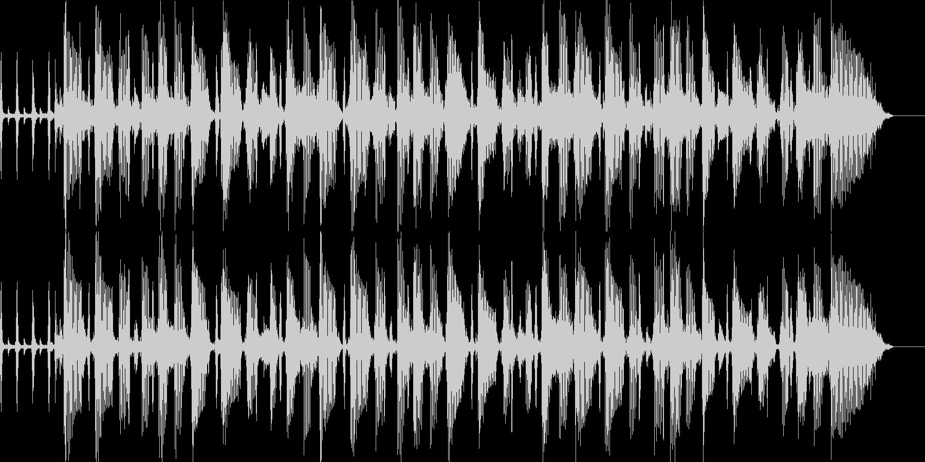 ポップスのBGMの未再生の波形