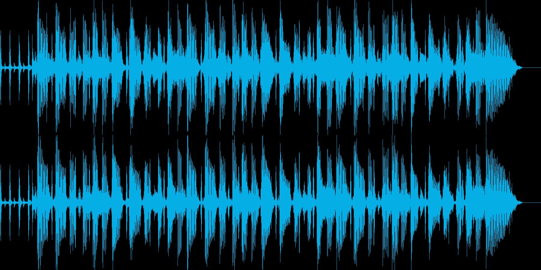 ポップスのBGMの再生済みの波形