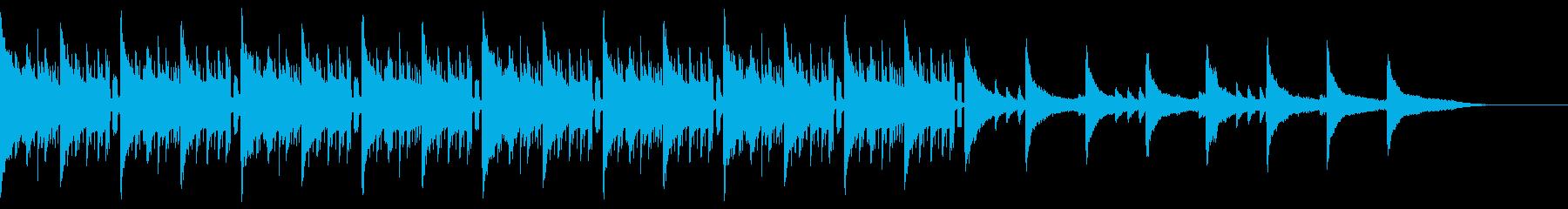 ピアノ+ヒップホップドラムなバラード曲の再生済みの波形