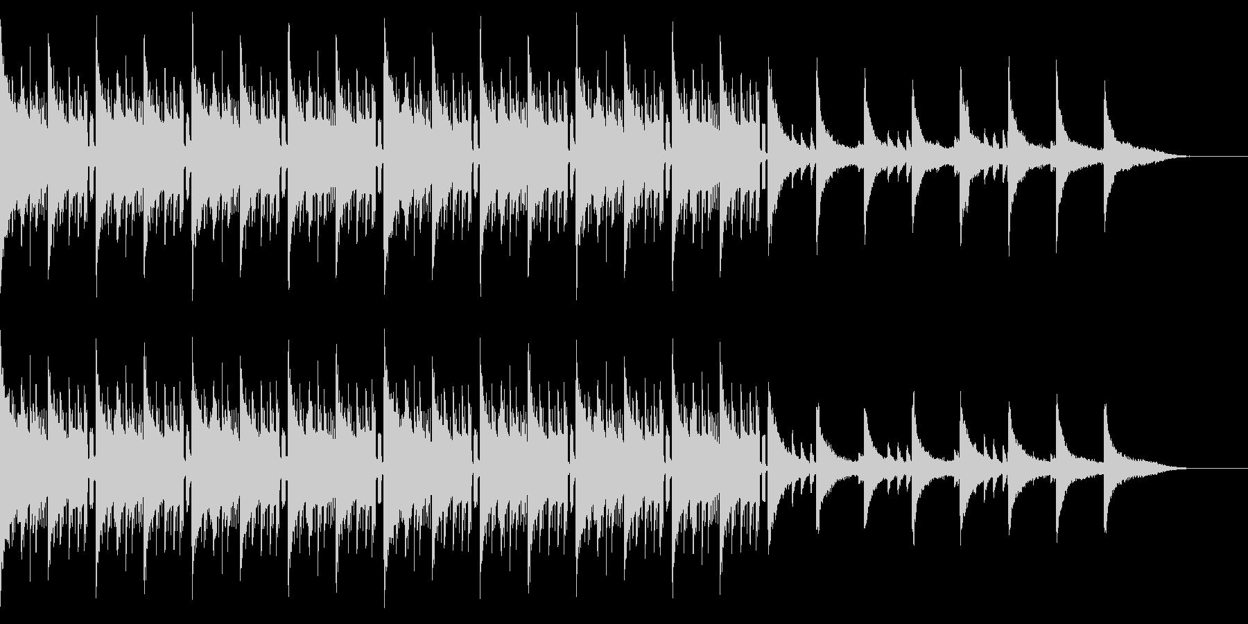 ピアノ+ヒップホップドラムなバラード曲の未再生の波形