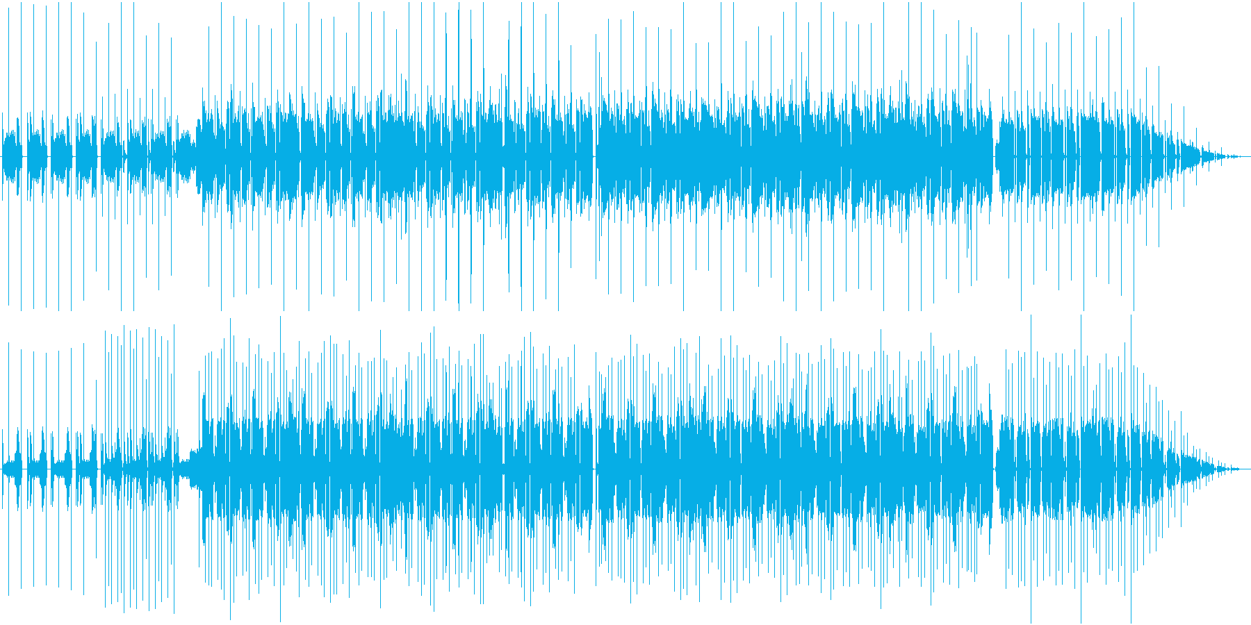 90s的なHIPHOP、ブレイクビーツの再生済みの波形