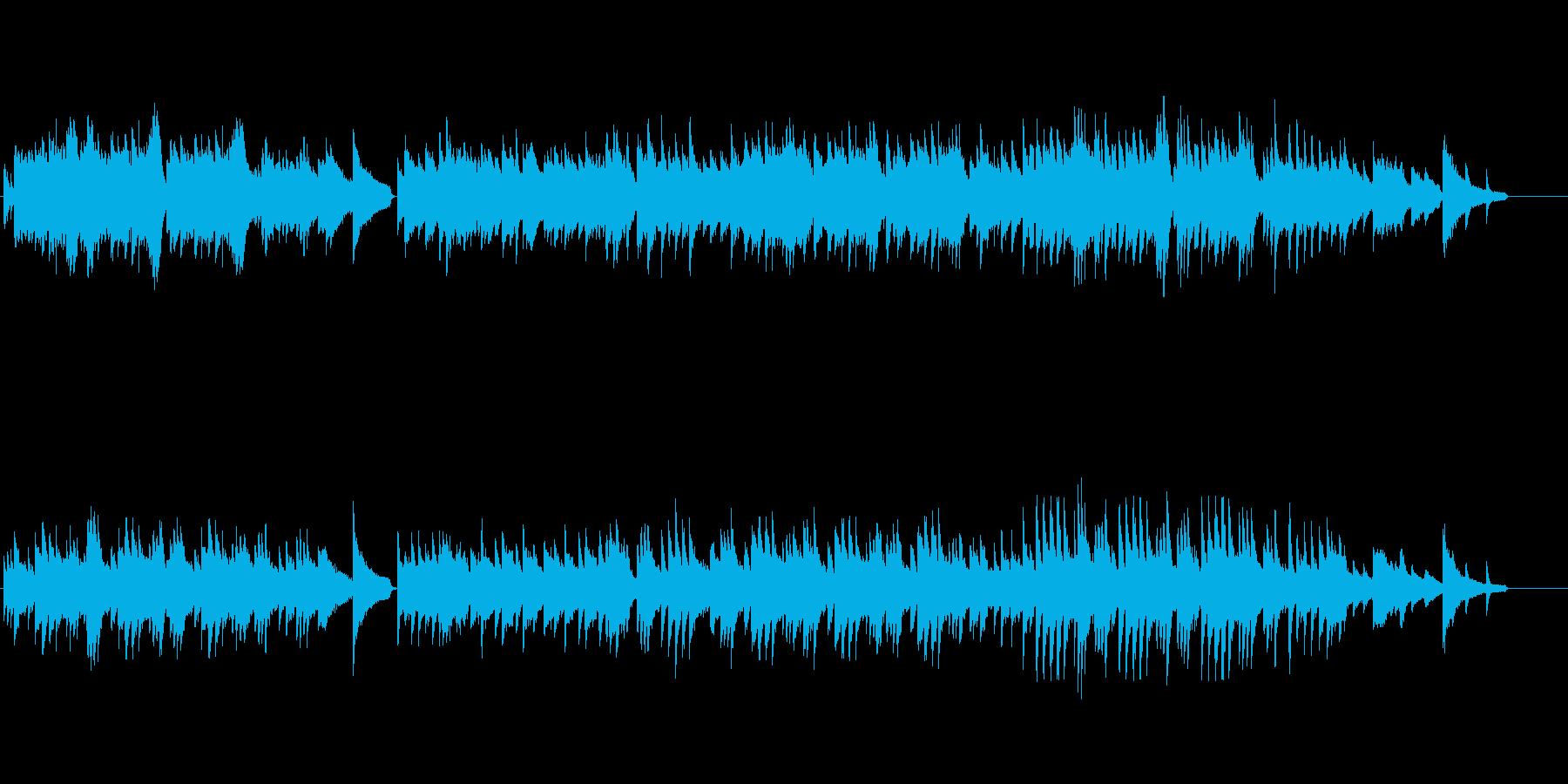 しっとりとしたピアノ曲ですの再生済みの波形