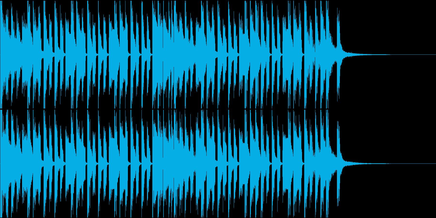 かわいいポップなチップチューン ショートの再生済みの波形
