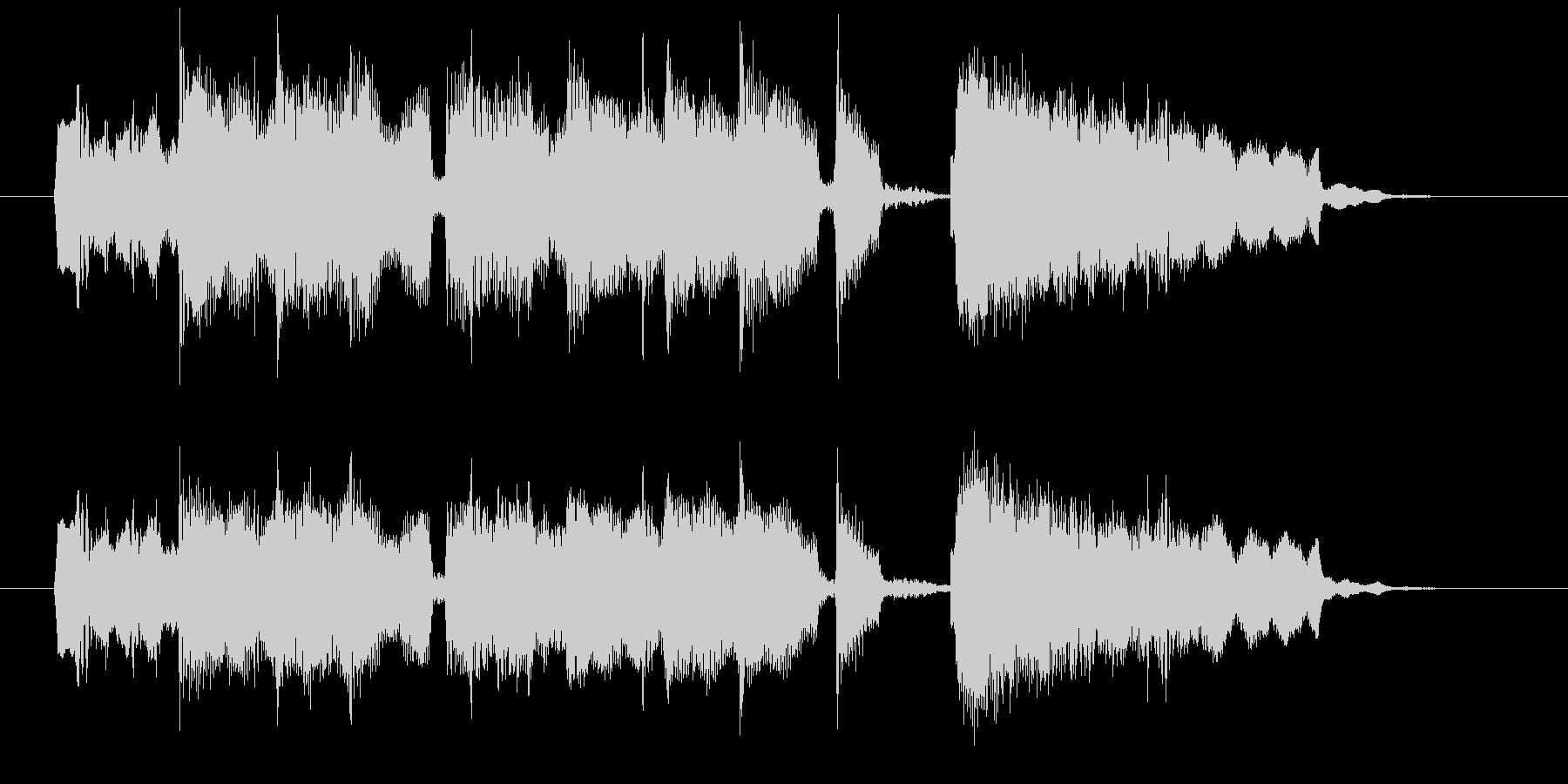 15秒のゆったりボサノバジングルの未再生の波形