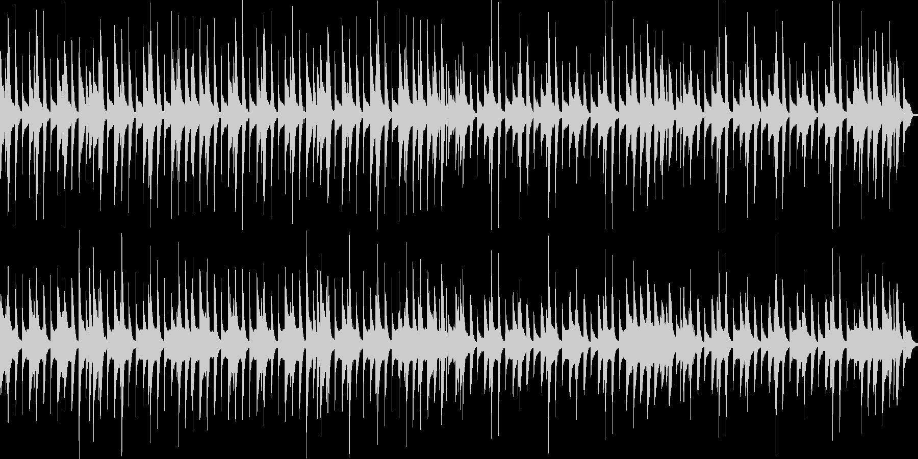 日常系 ほのぼのしたピアノとドラムの曲の未再生の波形