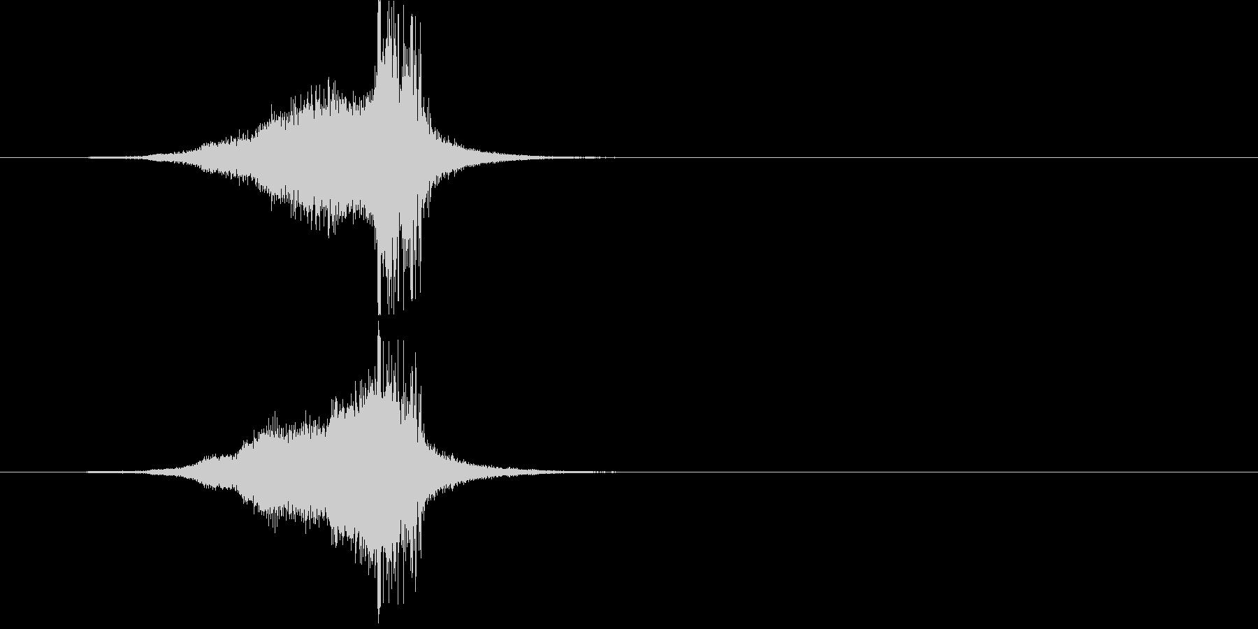 ジングル(S.E.)の未再生の波形