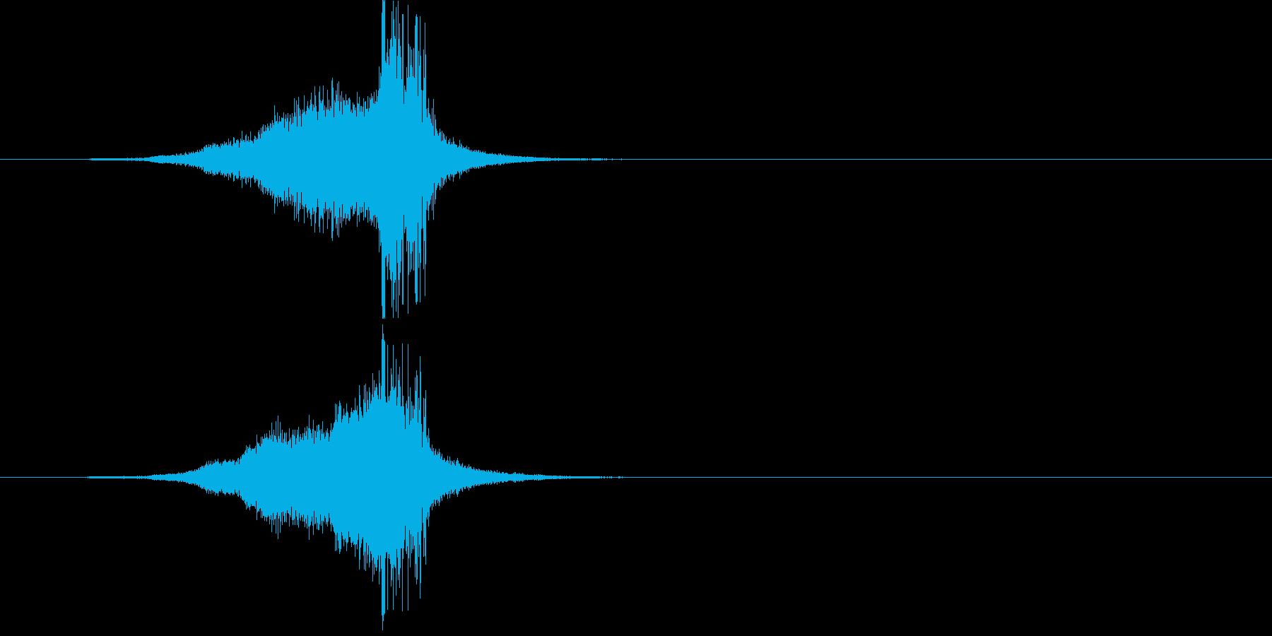 ジングル(S.E.)の再生済みの波形