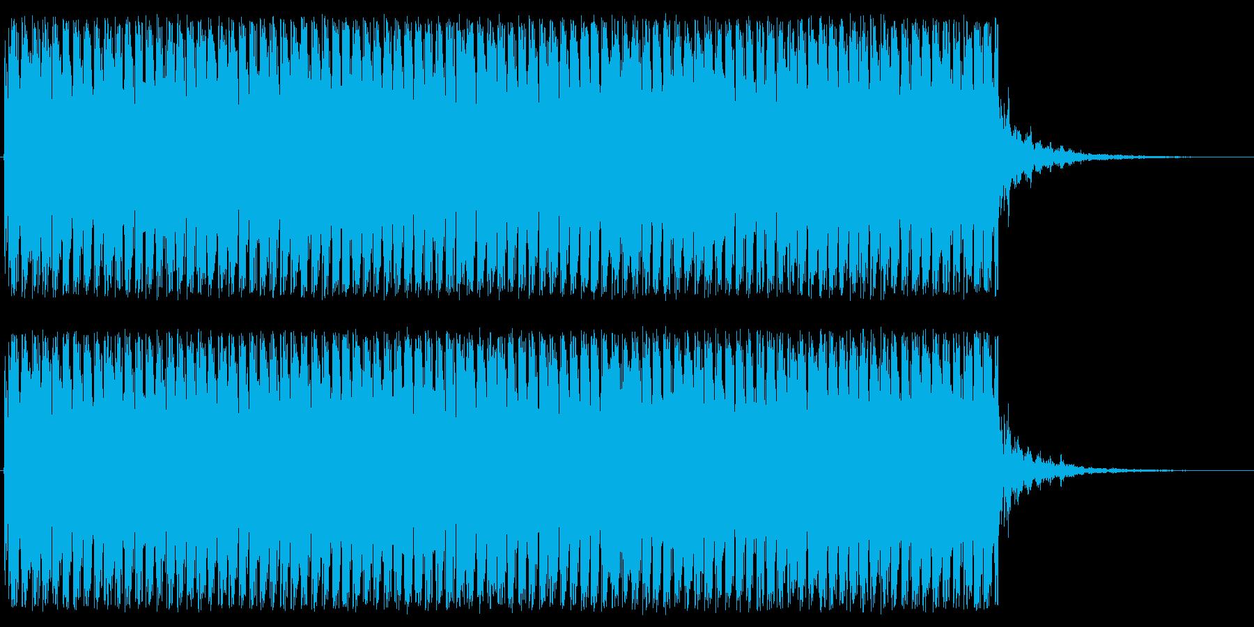 機関銃の音ですの再生済みの波形