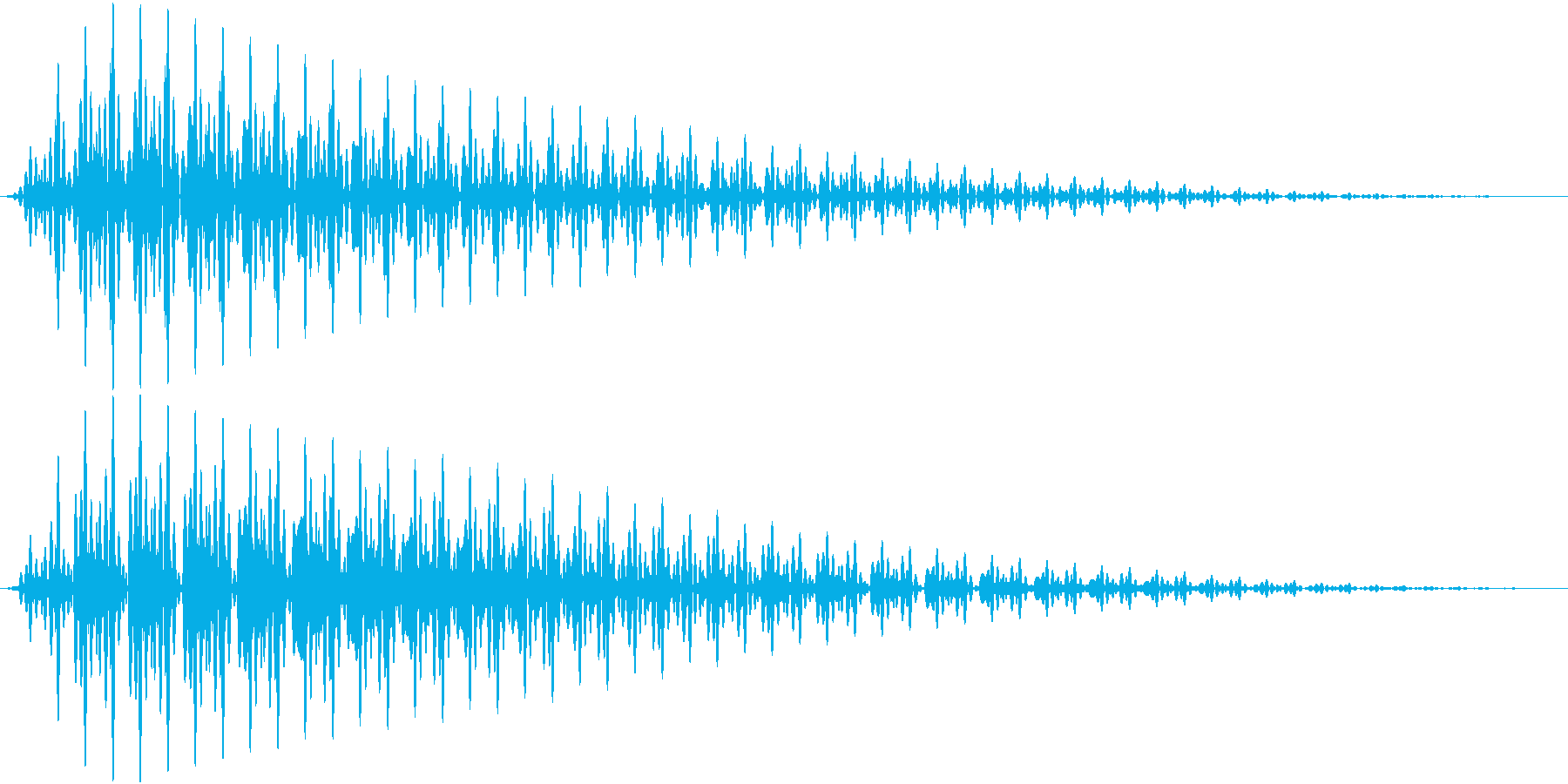 GameApp エラー音 ガーンッ!の再生済みの波形