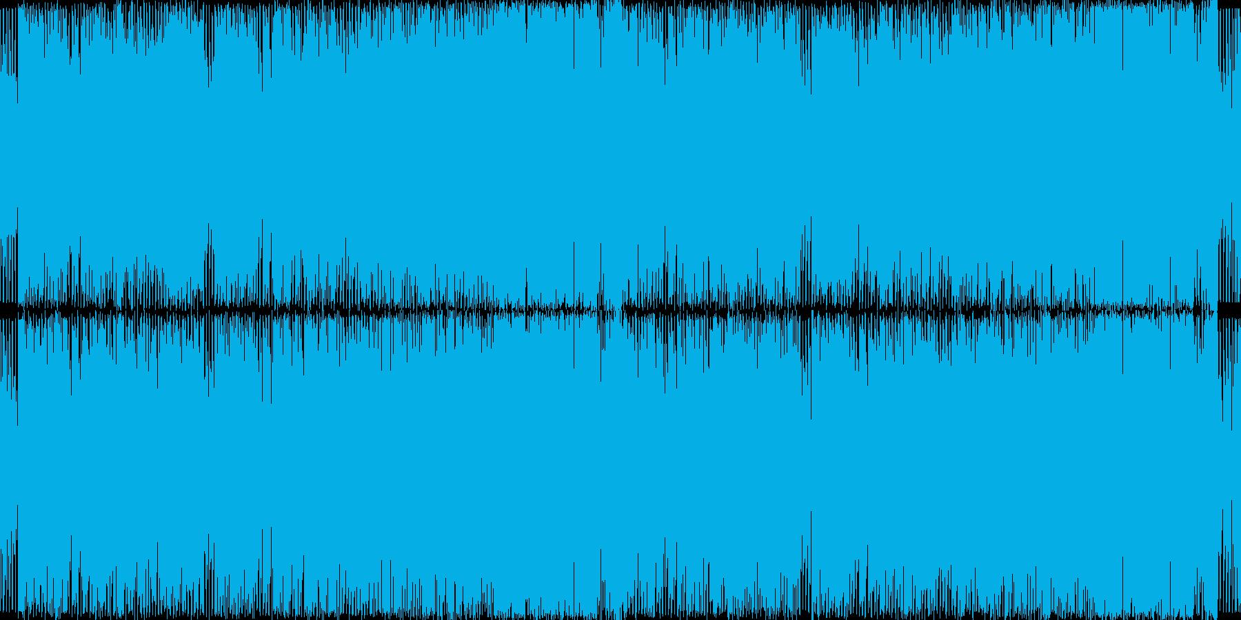 チップチューン風のシンセポップの再生済みの波形