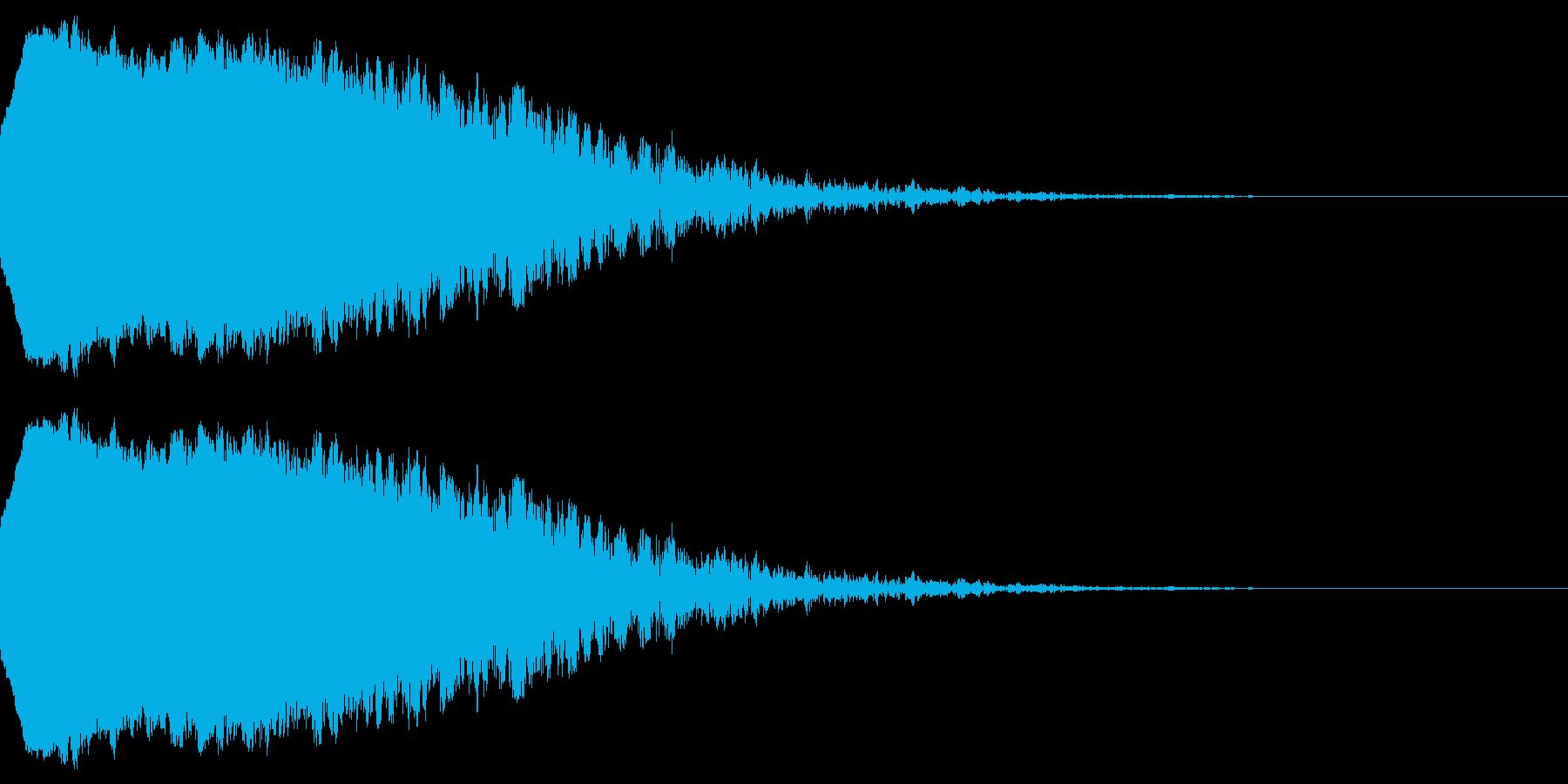 アニメにありそうな爆発音1(ちゅどーん)の再生済みの波形