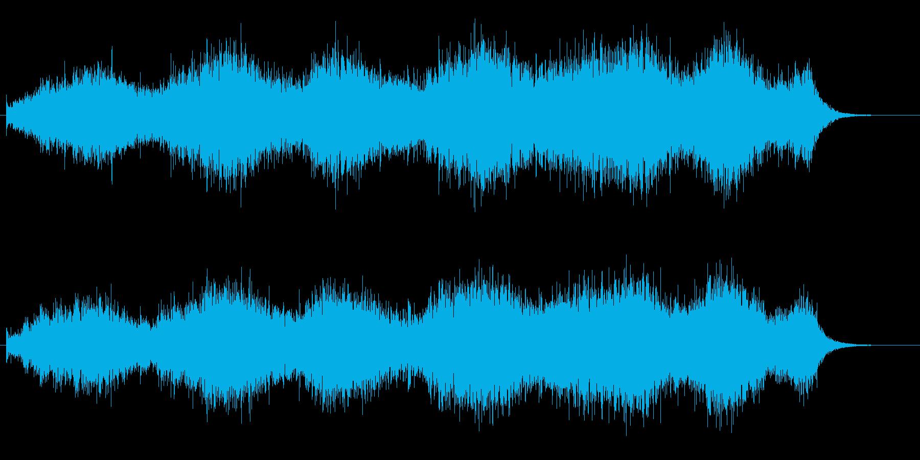 おどろおどろしい雰囲気のバックグラウンドの再生済みの波形
