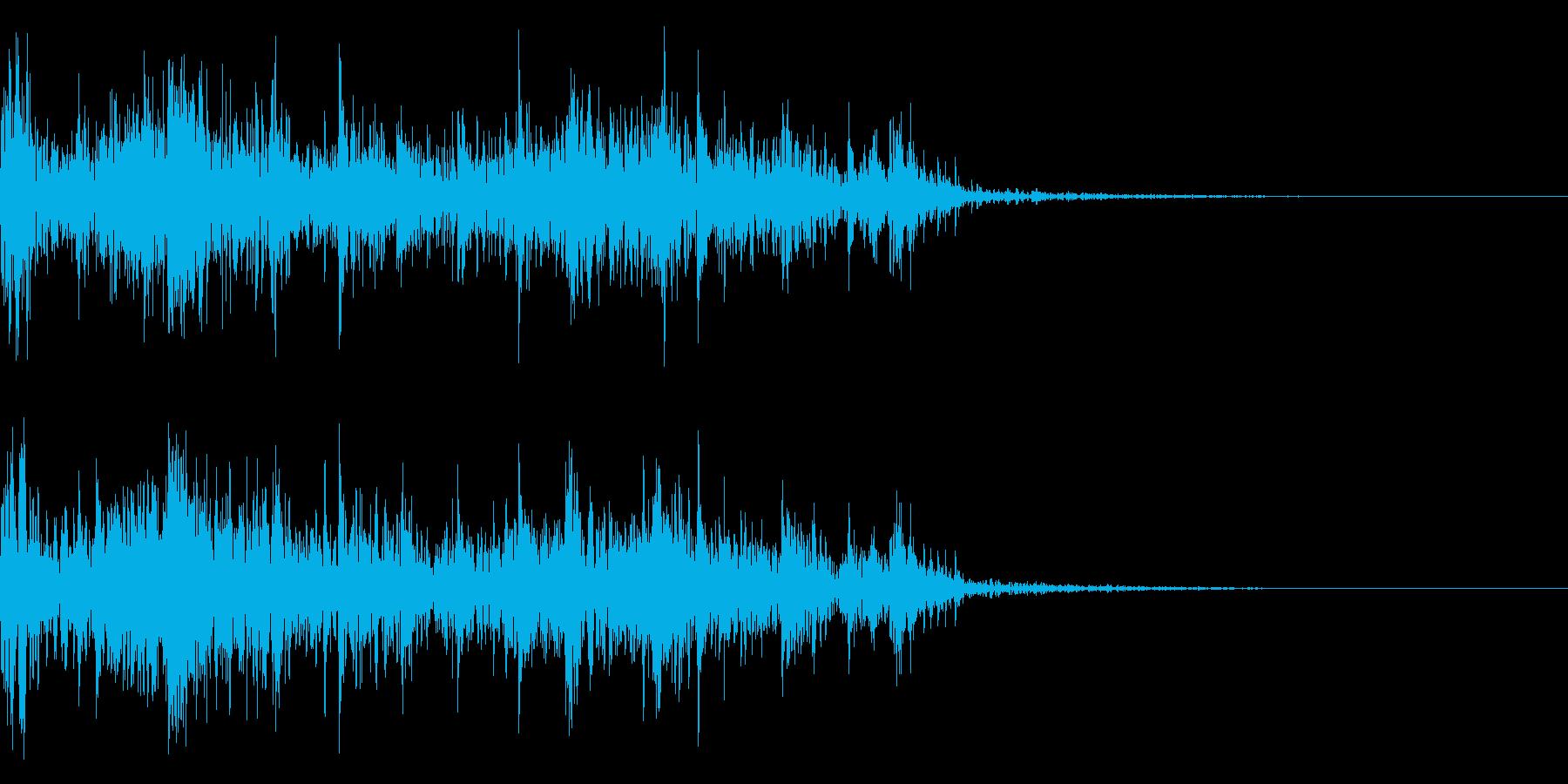 ドンパァ!連続花火のド迫力な効果音!06の再生済みの波形