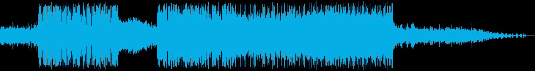6/8拍子のかっこいいバンドサウンドの再生済みの波形