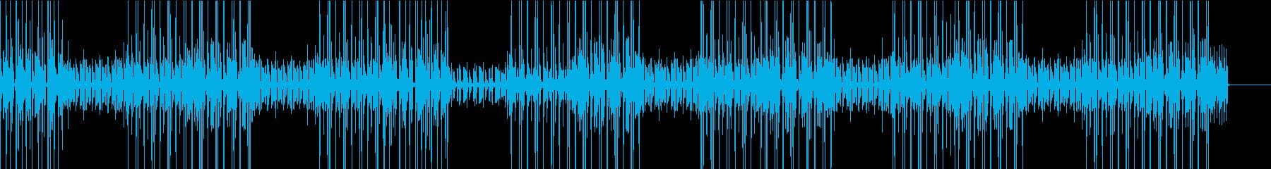 軽快なギター曲の再生済みの波形