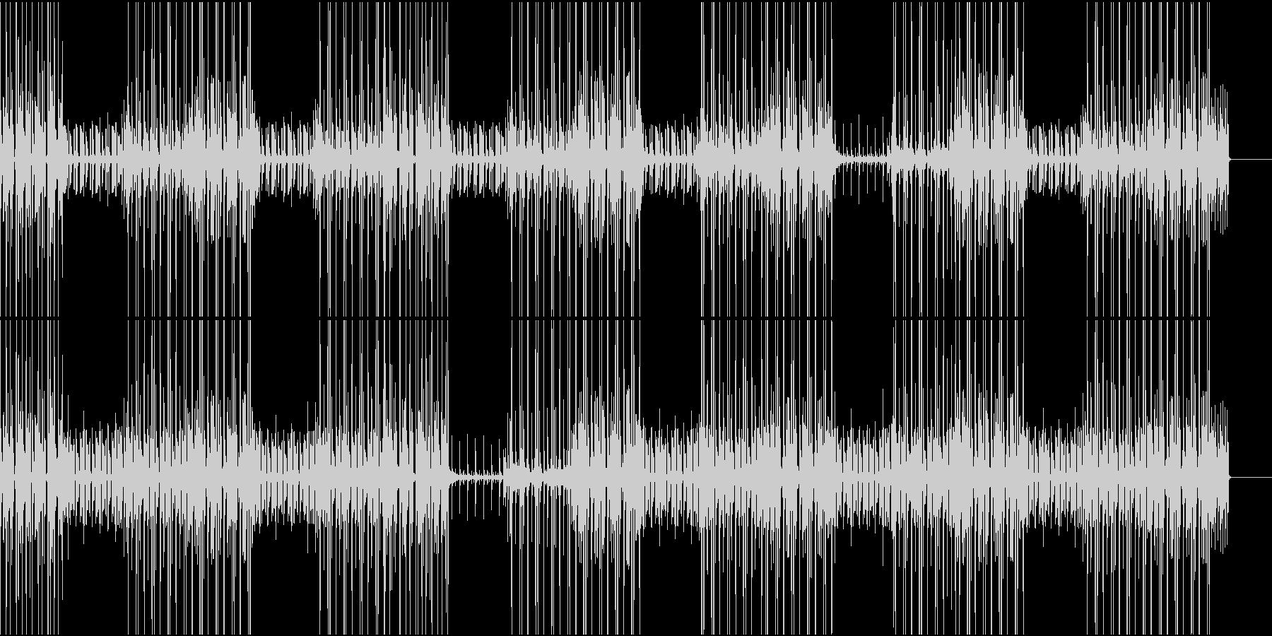 軽快なギター曲の未再生の波形