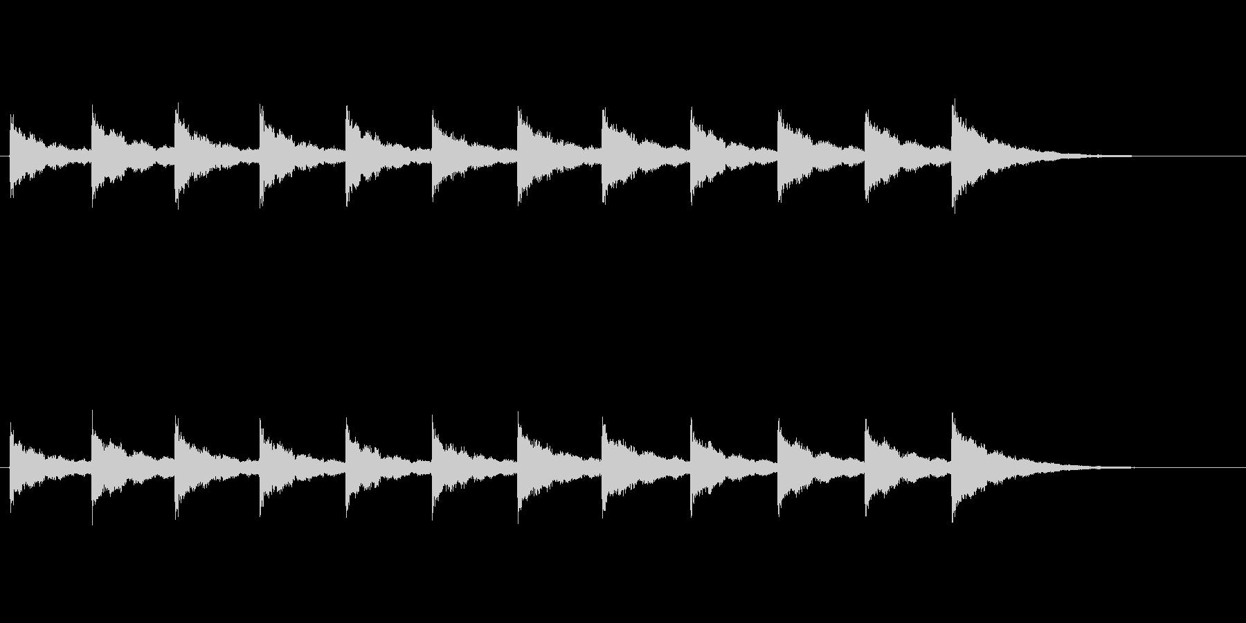 鐘の音 (12時)の未再生の波形