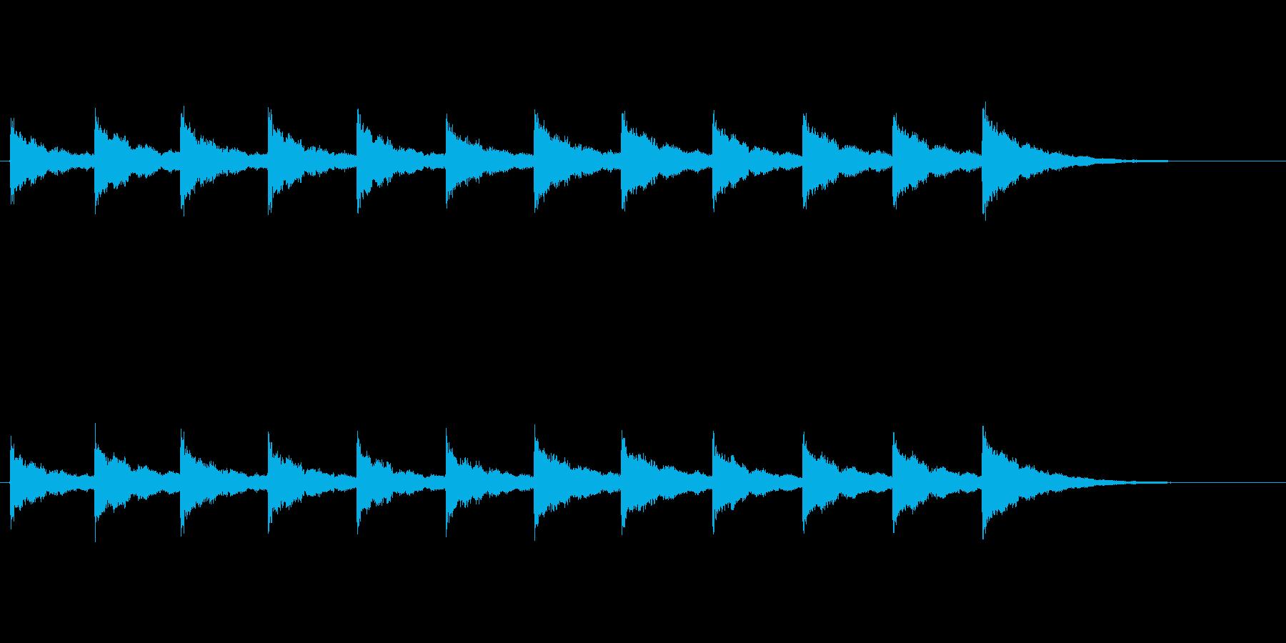 鐘の音 (12時)の再生済みの波形