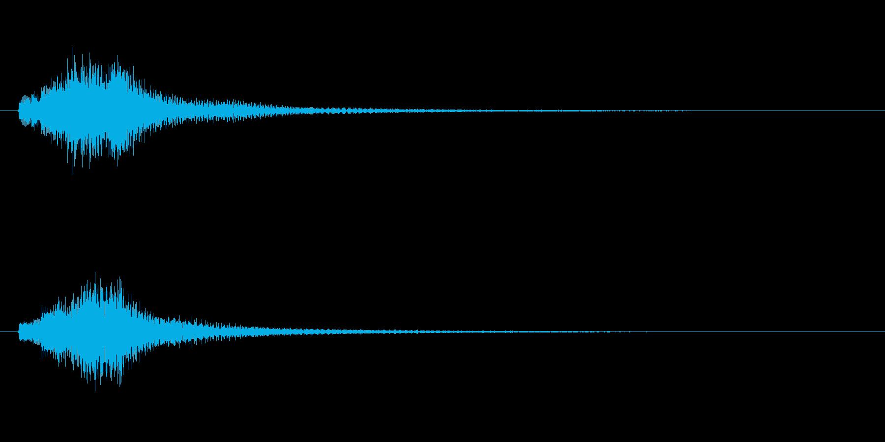 琴、平調子、上昇スケールジングルの再生済みの波形