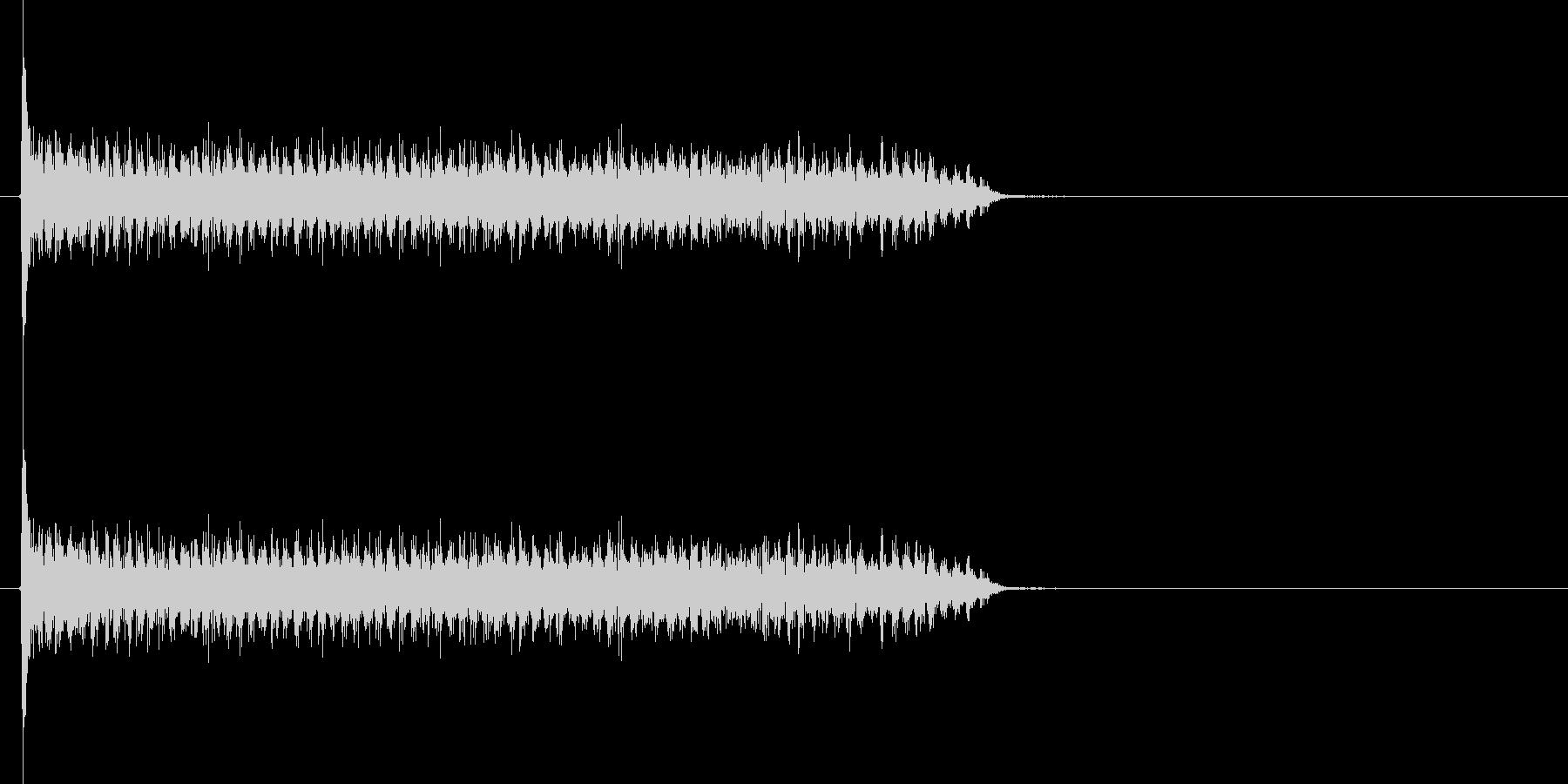 スネアドラムの連打の未再生の波形