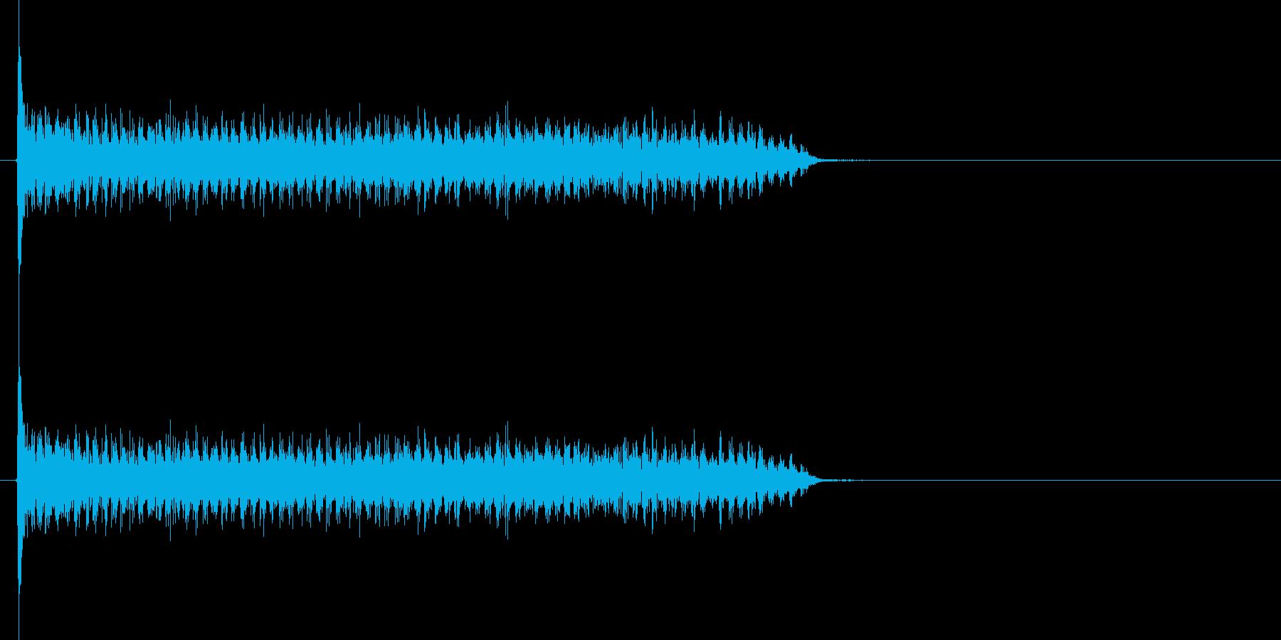 スネアドラムの連打の再生済みの波形