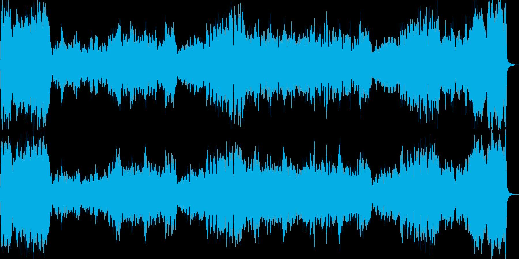 祝典ファンファーレ、重厚なオーケストラの再生済みの波形