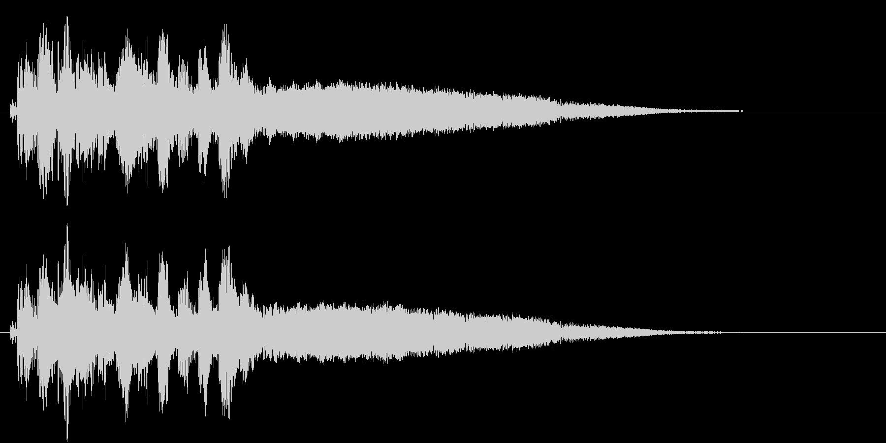 近未来の機械の始動するときの音の未再生の波形