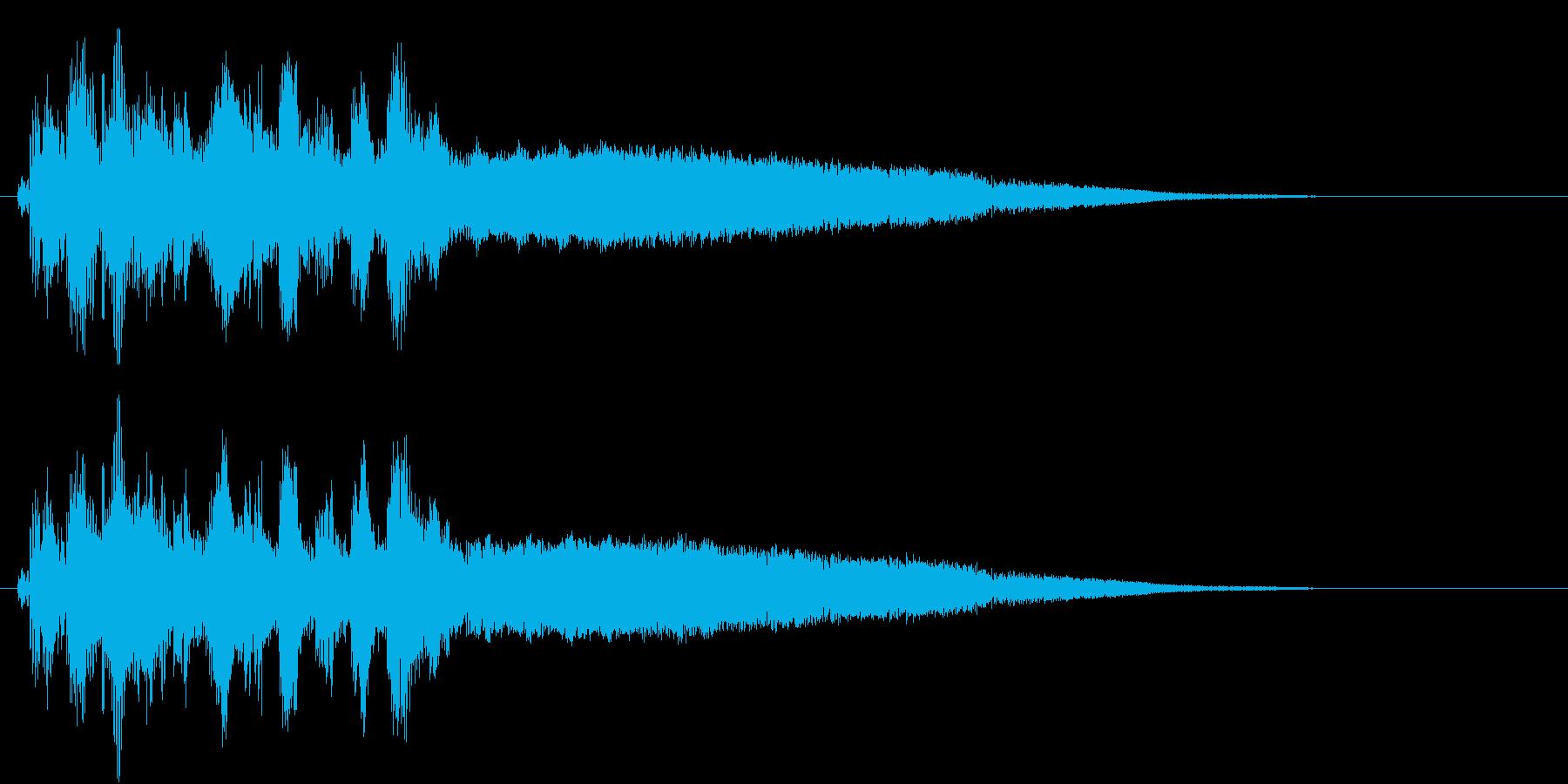 近未来の機械の始動するときの音の再生済みの波形