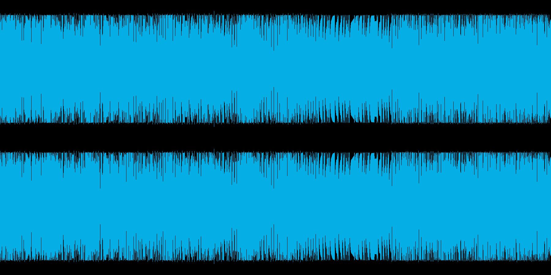 何かがスタートするようなBGMの再生済みの波形